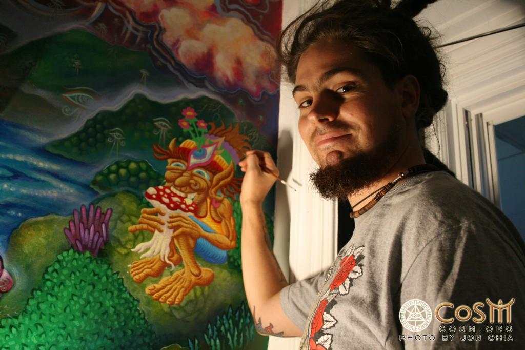 chris_painting_mushroom_cafe