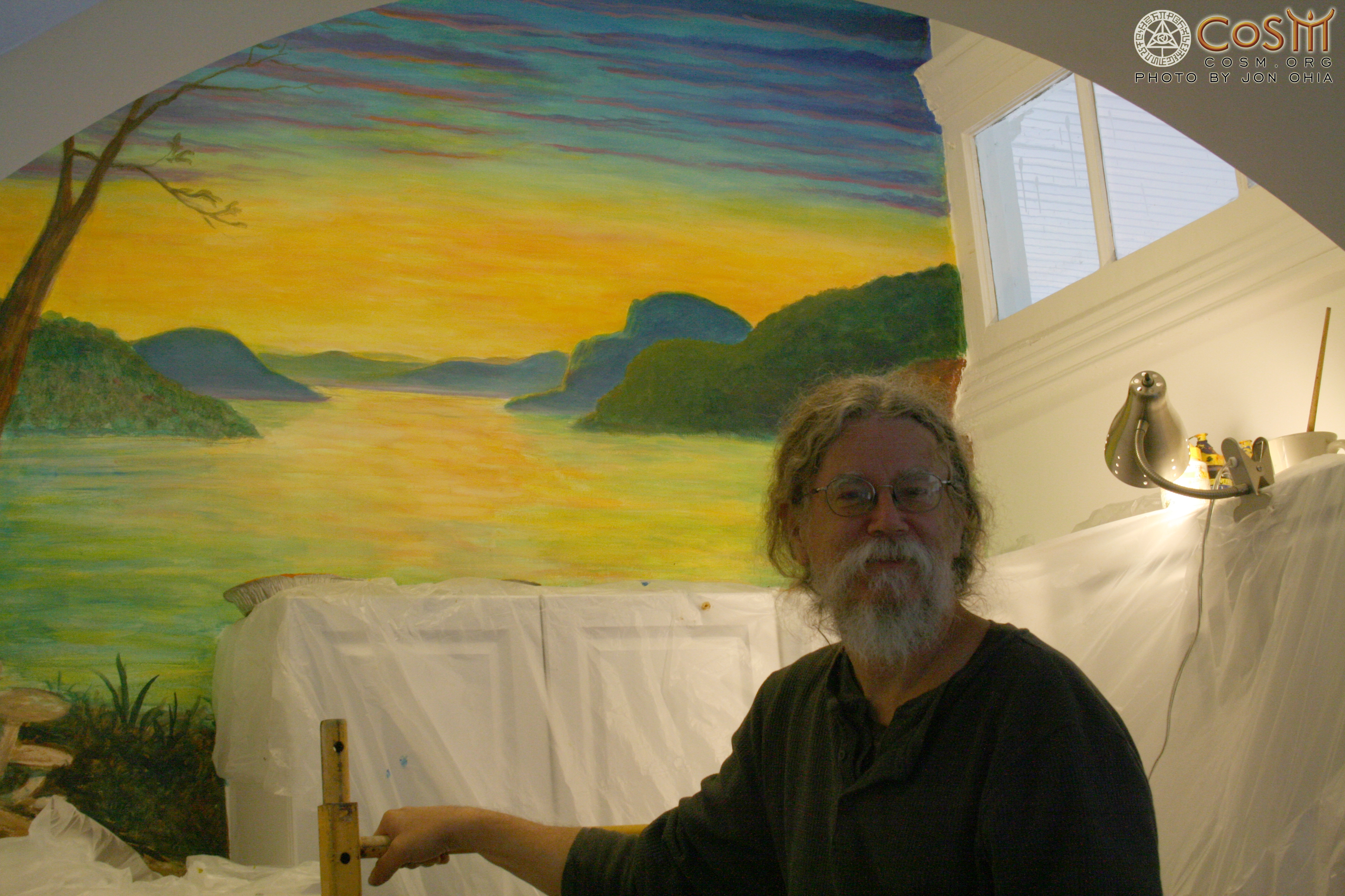 mark henson with mural