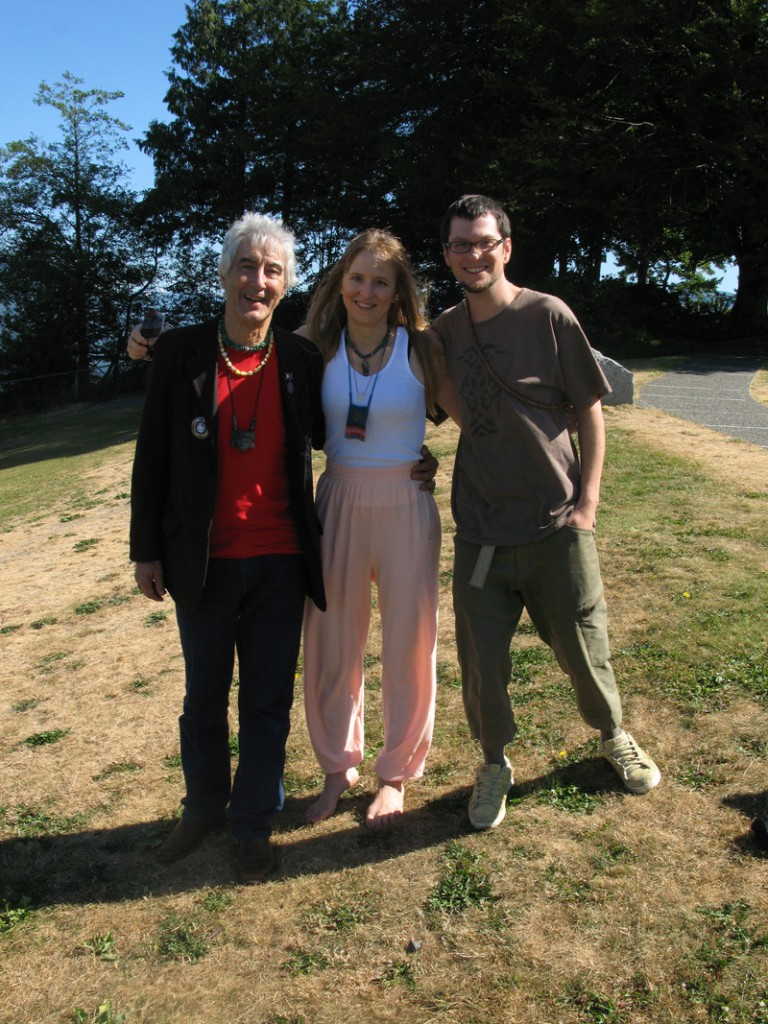 Photo : Jacob Aman Jose Arguelles, Stephanie and Delvin Solkinson at the Anu Totem Circle, Simon Fraser University, Prophets Conference 2011 for this innerview